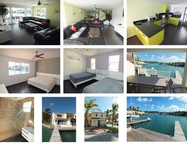 Beautifully Modern Jolly Harbour Antigua Villa with private dock on the water.