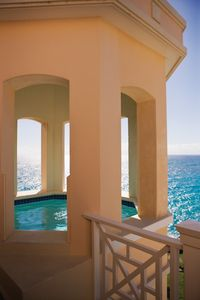 View from the Pools on outside rooms. 514 has the 28foot Private Pool