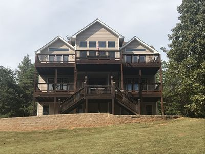 Photo for Breathtaking Views of Lake Hartwell with Private Dock Access