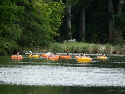 Photo for River Frontage!!  600' of private Guadalupe River - Tubes/Floats included!