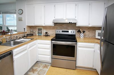 Fully equipped kitchen will help make meal prep a breeze.