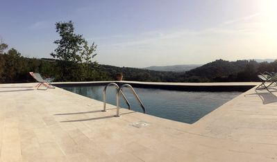 Salt water pool with beautiful views on the Tiber Valley and Monte Molino