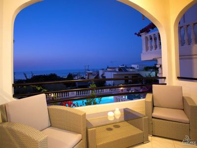 Photo for 3 bedroom Apartment, sleeps 7 in Galatas with Pool, Air Con and WiFi