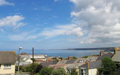 Photo for Large central 4 bedroom single level apartment overlooking Newquay bay