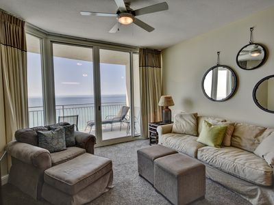 Photo for 1009 Aqua 3 br/3 ba Gulf Front Condo Free Beach Chair Service March 1st 2019 to October 31st 2019!