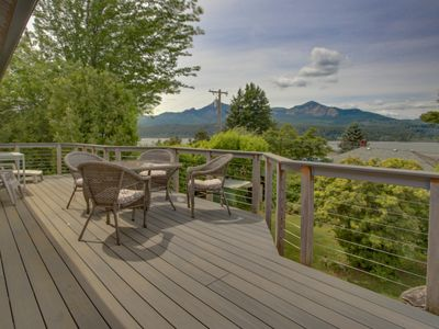Photo for Magnificent dog-friendly home w/ lake & mountain views from large deck