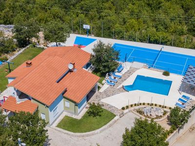Photo for ctim254 - Holiday house with private swimming pool and spacious garden with basketball and tennis court, ideal for companies up to 10 persons in Makarska - Imotski