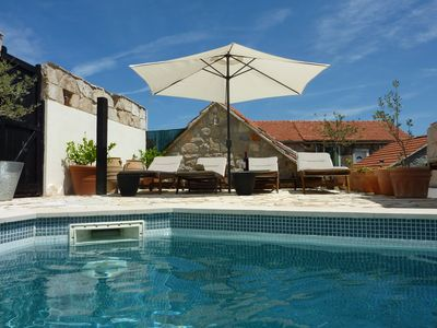 Photo for Beautiful old stone self catering cottages with wifi, courtyard and pool