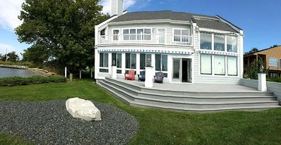 Waterfront Balconies, Screened Porch and Large Deck