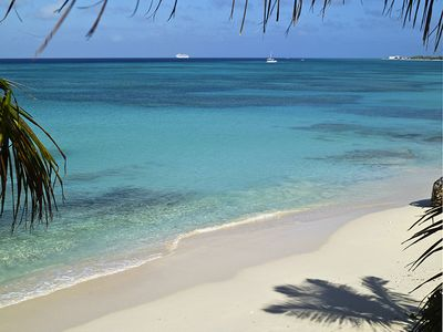 VIEW FROM THE BALCONY: SANDY BOTTOM SWIMMING; WORLD CLASS SNORKELING AND DIVING