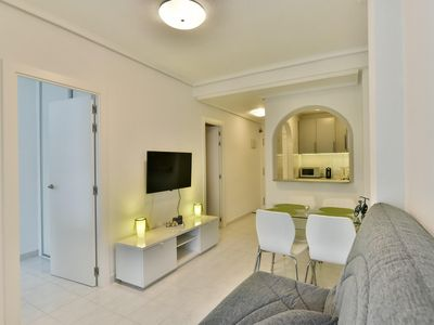 Photo for Beautiful, very bright apartment in Torrevieja, 5 minutes by foot from the sea