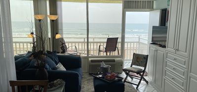 Photo for August fun. Oceanfront  Super Clean Studio enhanced cleaning protocols followed