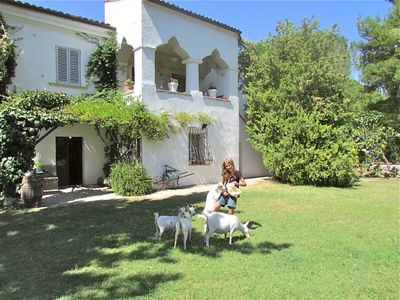 Photo for Charming COTTAGES (up to 2-4 p) nestled by wide gardens (pool, mountains, beach)