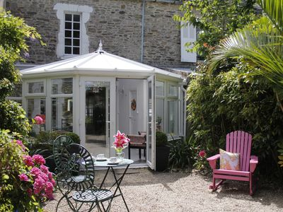 Photo for Maison in the Cotentin with exotic garden, very close from the sea.