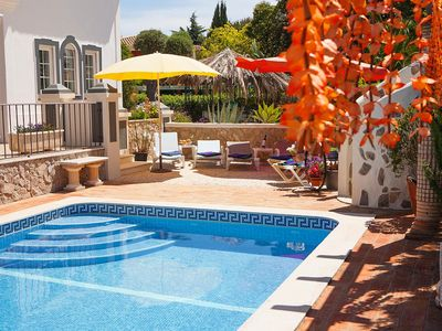 Photo for Villa Oliveira, Family villa, Tranquil area, 4 Bedrooms, Sleeps 8, Air-con, BBQ & Pool