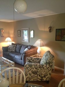 Photo for FAMILY FRIENDLY, LARGER UNIT, LAGOON VIEW MINUTES FROM BEACH!!