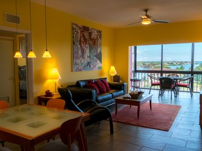 Photo for 2 Bedroom/2 Bath, On Your Own Private Harbor- Artistic Condo with Full Amenities-- Top Floor!