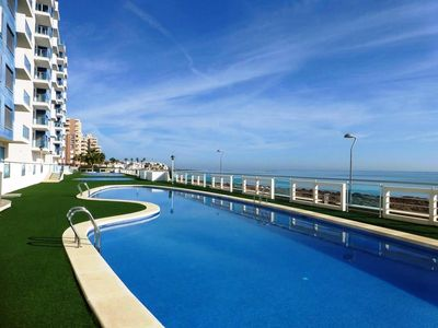 Photo for Beautiful beachfront penthouse with breath taking panoramic sea views, Free WIFI