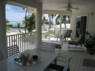 The Villa's deck has a great breeze to enjoy while relaxing.