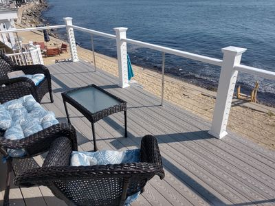Photo for Ocean Front Brant Rock - Right on sandy beach!!!