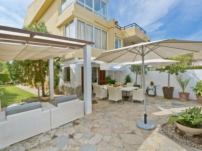 Photo for Holiday Apartment Biblos - A51 with Wi-Fi, Garden, Terraces & Shared Pool; Street Parking Available
