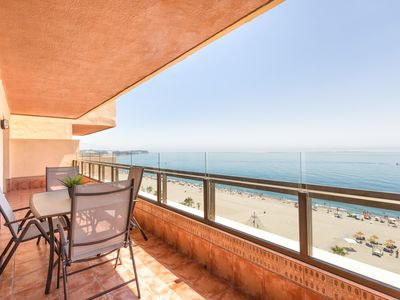 Photo for First line of beach with a spectacular terrace and magnificent sea views