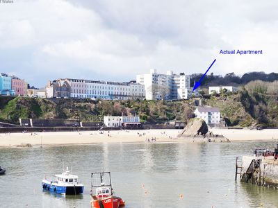 Photo for This modern and stylish apartment in the picturesque coastal town of Tenby has spectacular views and