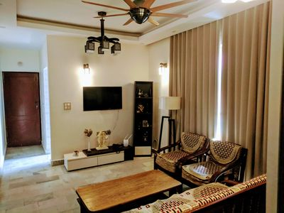 Photo for Uber Apartment for 4 in Central Delhi | Metro 5 mins away | Fully Airconditioned