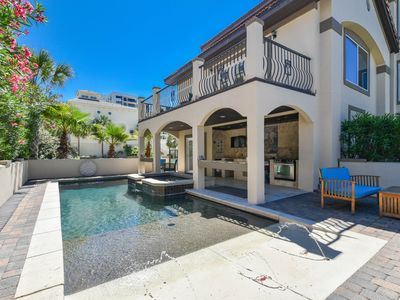 Three-stories w/private pool, hot tub, game room, & more!