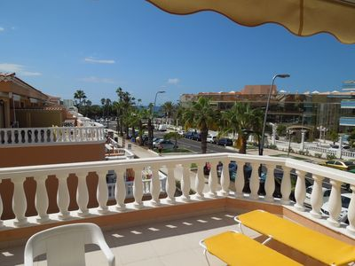 Photo for Apartment Playa Las Vistas close to the sea+beach, heated pool, Wifi, terrace