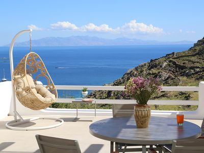 Photo for Villa Wisteria 1 in Agios Lazaros, with sea view, outdoor Jacuzzi, 1 bedroom, 2 sleeps
