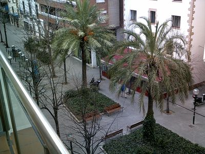 view from the balcon to the Spain Place (plaza españa)