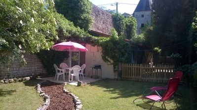 Photo for Detached Gite ..Lots of old charm.Outskirts of village,30 mins from La Rochelle.