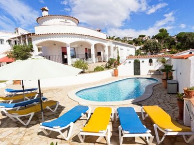 Photo for Club Villamar - Beautiful villa with a big swimming pool. Nice sea view from the villa and the ga...