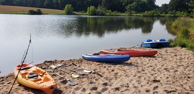 SWIM AND KAYAK ON THE SMALL LAKE!