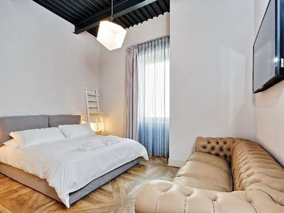 Photo for Elegant and renovated two-bedroom apartment in Rome