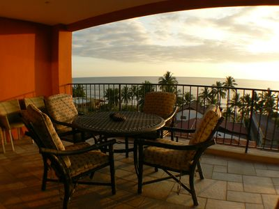 Living room Balcony 1 - Outdoor Balcony with view of Jaco Bay at Vacation Rental Vista Mar 5C