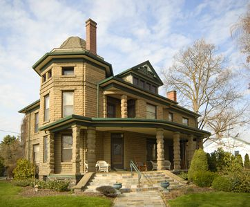 Photo for Spectacular Historic Stone Mansion - Just one block from downtown
