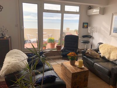 Photo for Seafront, beautiful balcony, spacious flat