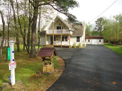 Photo for CHALET LIKE  5 BEDROOM W/GAME ROOM, HOT TUB & ADJOINING JACUZZI CABIN
