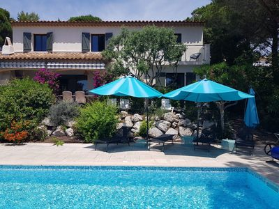 Photo for VILLA LES ISSAMBRES GULF OF ST TROPEZ 1KM FROM THE SEA