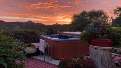 Photo for Luxury Suite In A Mountain Hilltop Retreat ~ Lush Garden Oasis ~ Sunset Hot Tub!