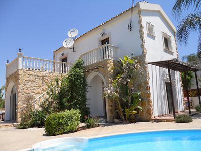 Photo for Traditional Villa Sofia with private pool, garden and BBQ, Vrysoulles, Cyprus