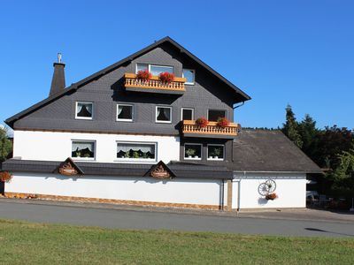 Photo for Small, idyllic apartment in the Rothaargebirge Nature Park