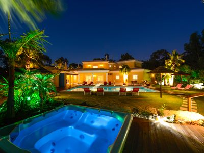 Photo for Villa Penina Gardens With Outdoor Heated pool, Jacuzzi and Tropical Gardens