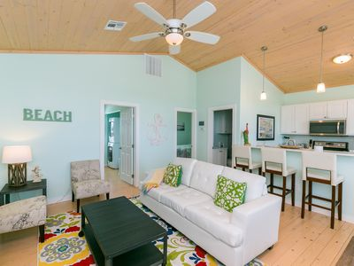 Photo for Brand-New 2BR w/ Patio & Deck -Walk to Eateries & Shops, Short Drive to Beach