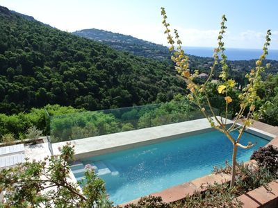Photo for Completely renovated villa for 10 people with a view of the sea and swimming pool