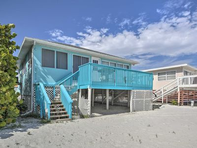 Photo for Beachfront Fort Myers Cottage w/Deck & Ocean Views