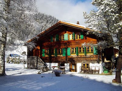 Photo for Gsteig · Unique family 18th century chalet w/ stunning view
