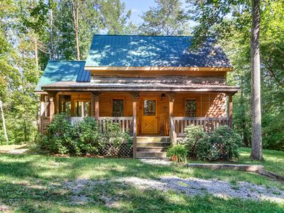 Photo for Dogwood is cozy cabin for couples retreat near Wear's Cove entrance to GSMNP.